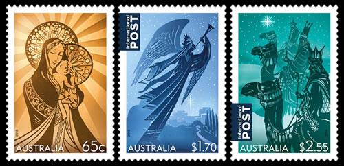 modern postage stamp design
