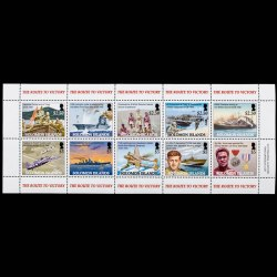 10 stamp souvenir sheet from Solomon Islands - WWII the Route to Victory