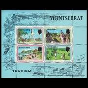 Montserrat Tourism Souvenir Stamp Sheet