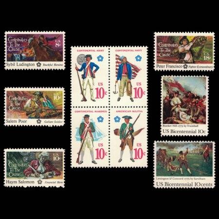 1975 U.S. Stamp Set - The American Revolution