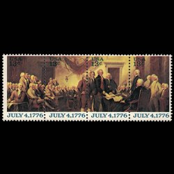 U.S. #1691-1694 - 13 cent Stamp Strip - Declaration of Independence