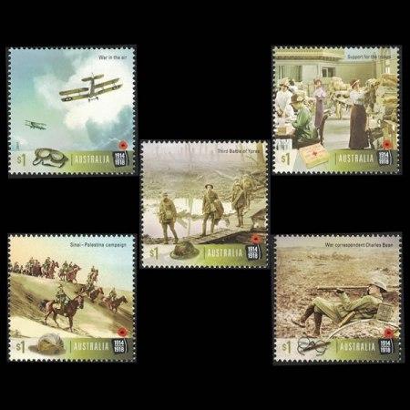 2017 Australia $1 Stamp Set - Centenary of WWI