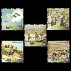 2017 Australia $1 Stamp Set - Centenary of WWI