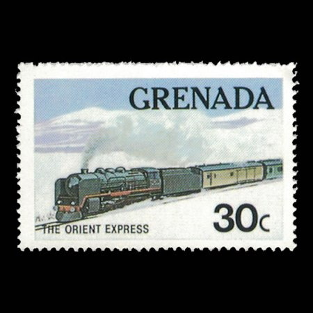 Grenada #1120 - 30 cent Orient Express Stamp