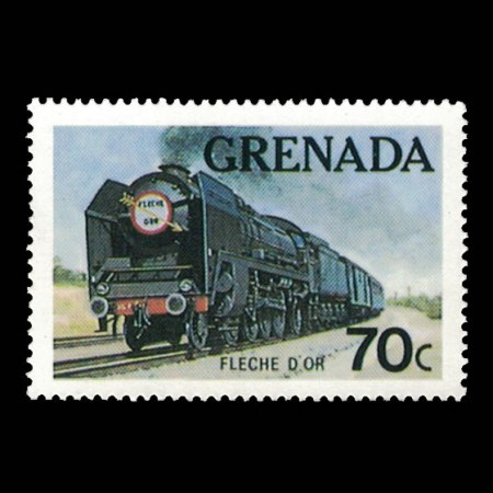 Grenada #1122 - Fleche D'Or Train Stamp