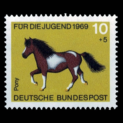 1969 German Semi-Postal Stamp #B442 - Pony