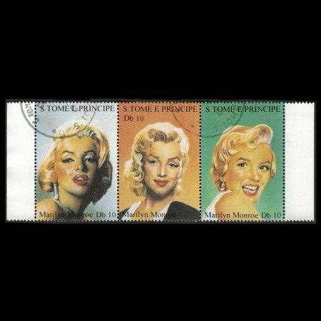 Marilyn Monroe Stamp Strips - 1994 St. Thomas and Prince Island
