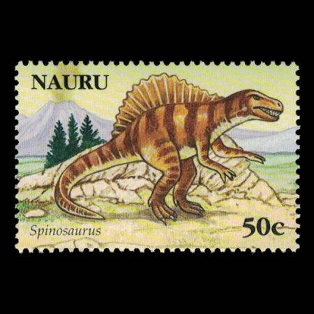 2006 Nauru Stamp #558 - 50 cent Spinosaurus