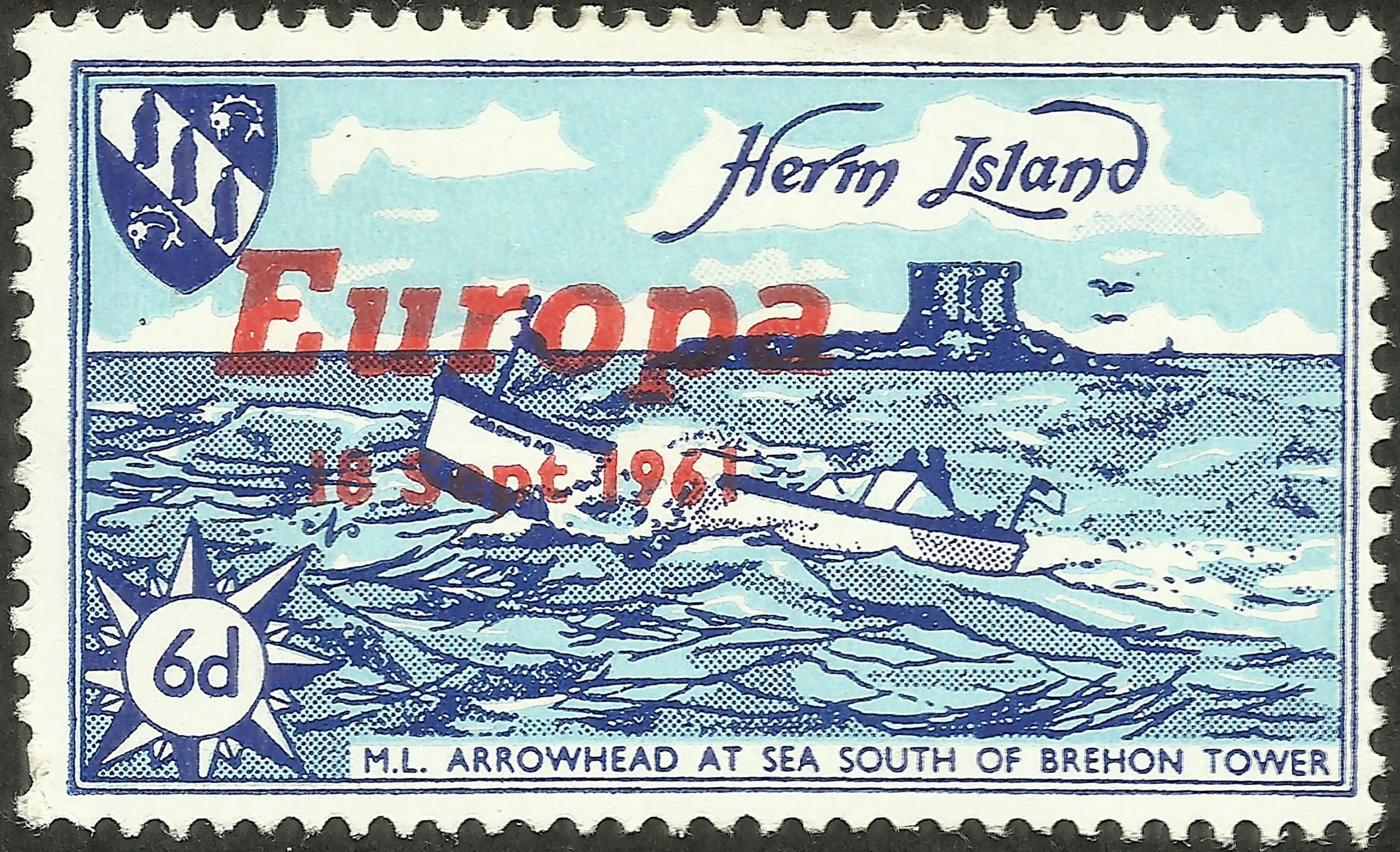 Herm Island B&F #75 (1961)