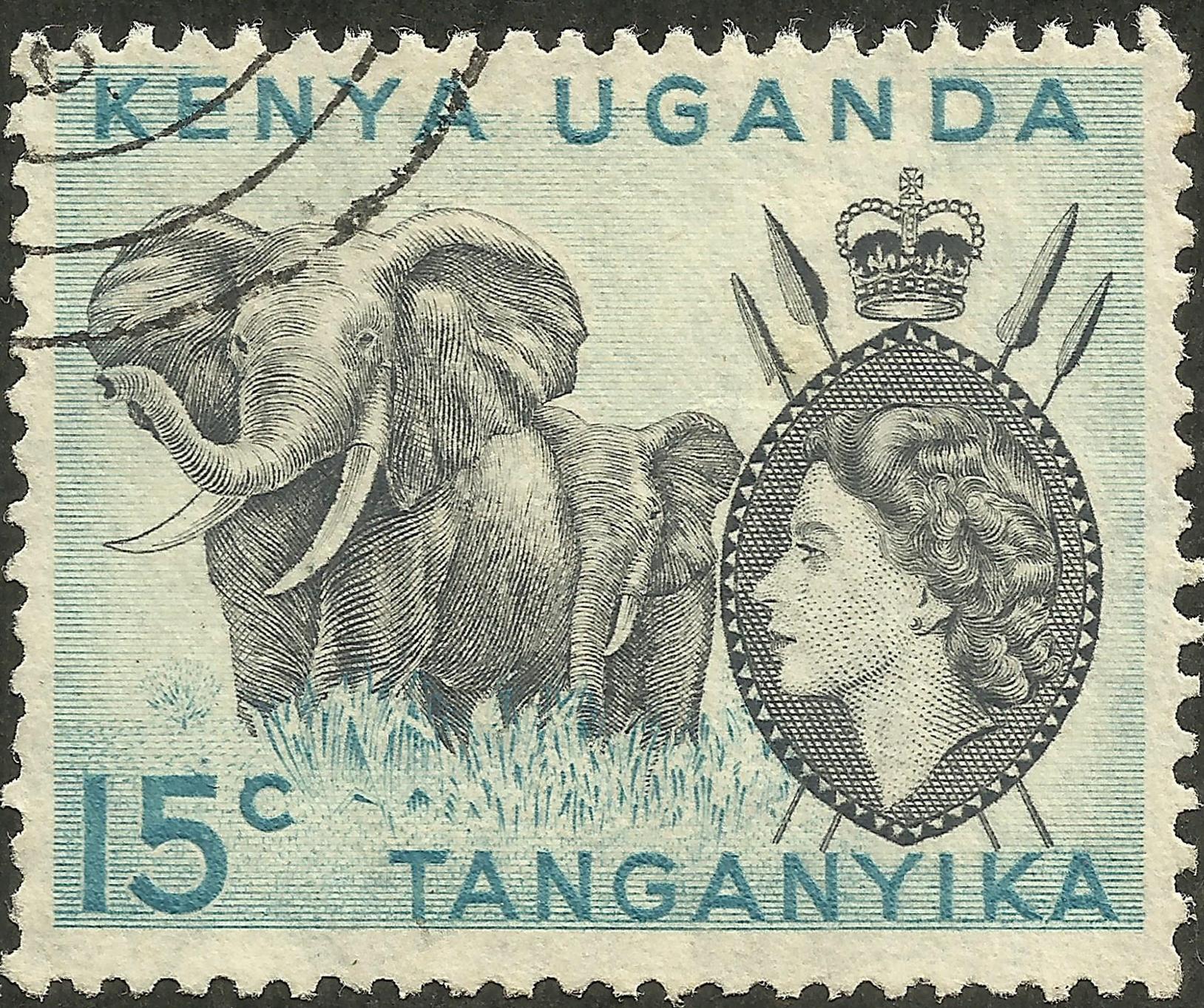 Kenya, Uganda, Tanganyika #105 (1958)