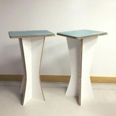 coppia tavolini in cartone