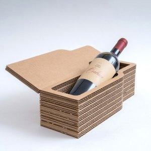 scatola per bottiglia in cartone