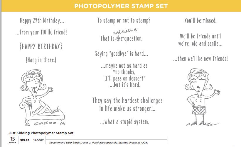 SU just kidding new photopolymer set