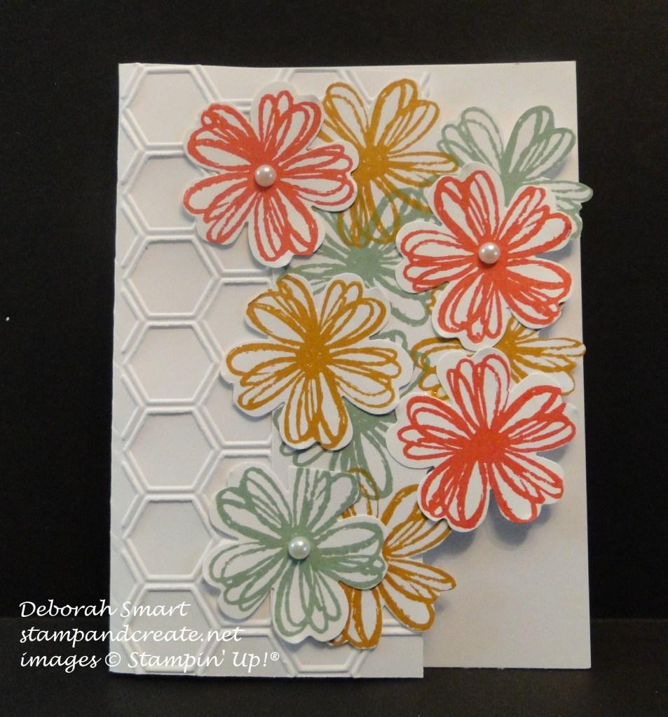 team mtg debbie's flower punch card