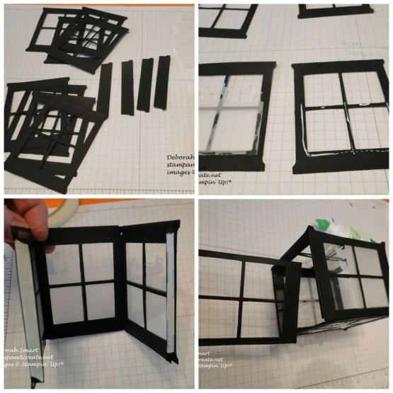 stamp and create luminaria collage