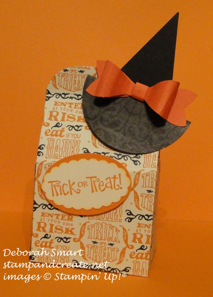 treats not tricks witches' hat
