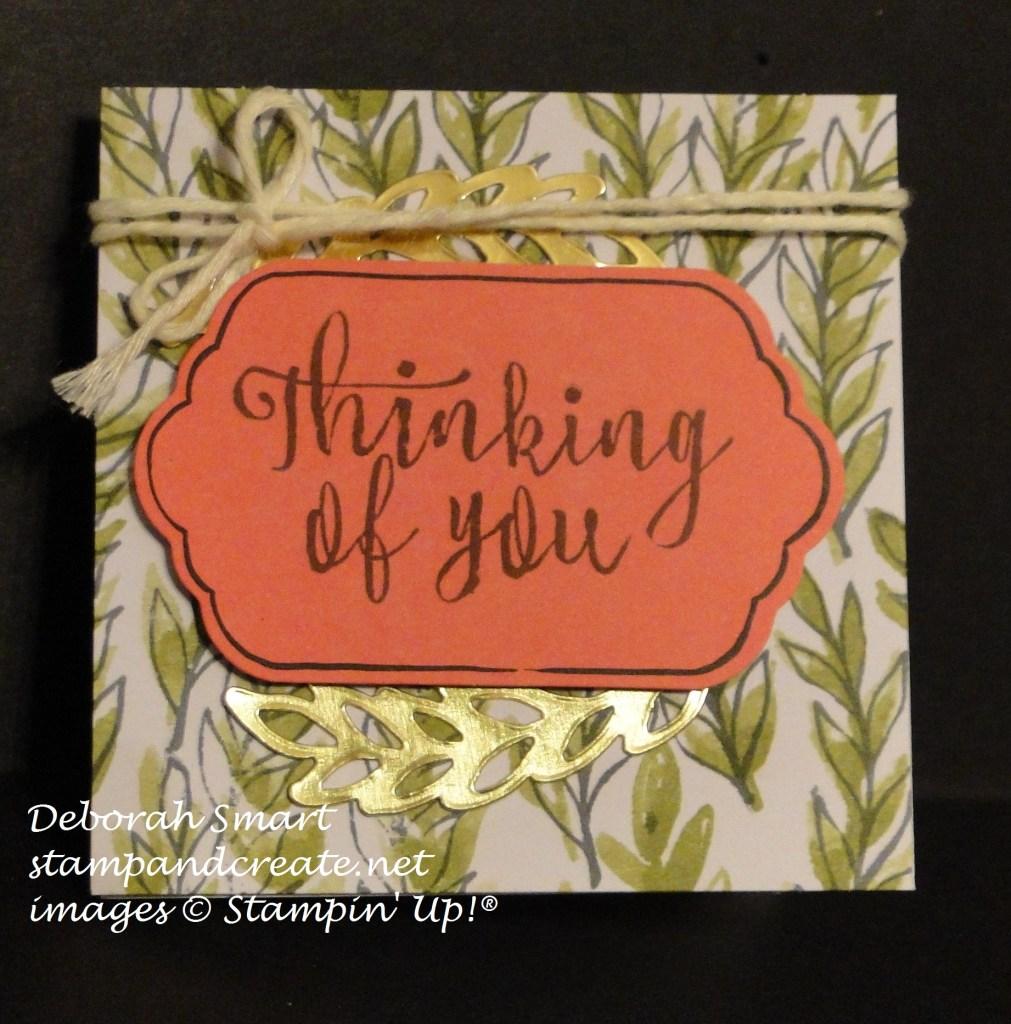 oct paper pumpkin small card
