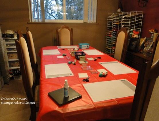 xmas buffet work table