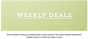 SU weekly deals header 1