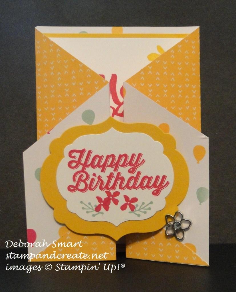 diagonal gate fold card