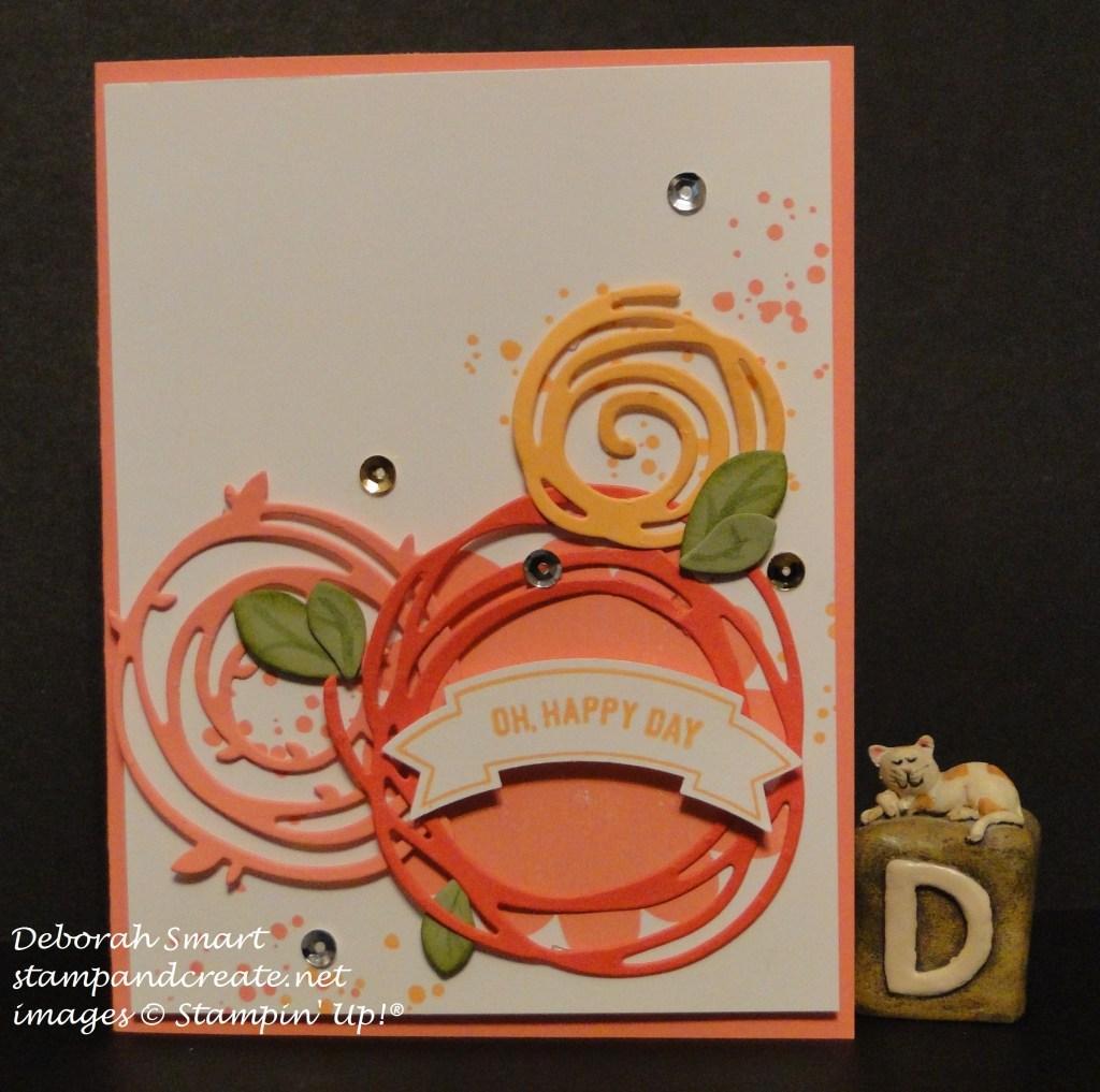birthday card using Swirly Scribbles thinlits