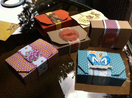 Margaret's fold flat boxes