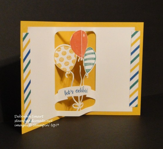 Birthday Card using the Balloon Pop Up Thinlits