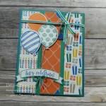 Balloon Adventures birthday celebration card
