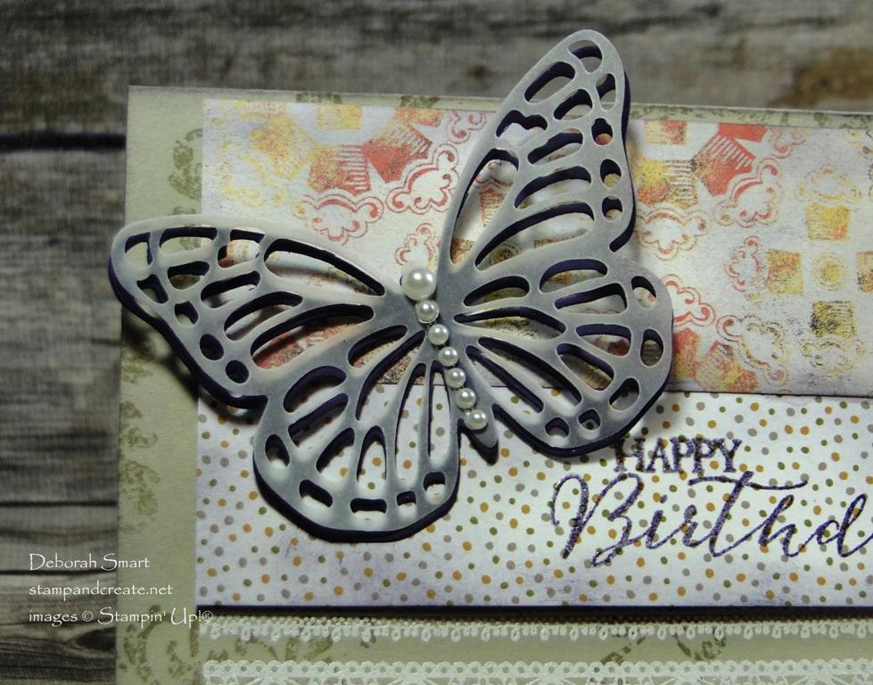 Butterflies Thinlits on Tic Tac Toe challenge