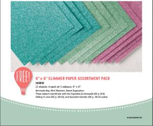 Sale-a-Bration Glimmer Paper Stack