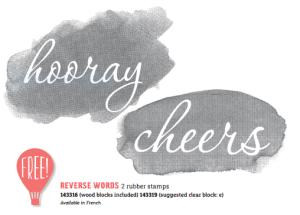 New Sale-A-Bration item Reverse Words stamp set