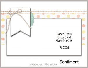 Paper Craft Crew Sketch Challenge PCC238