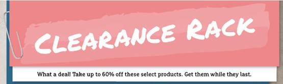 New Clearance Rack Items