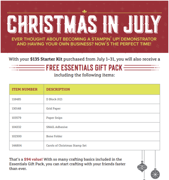 Christmas in July with Free Gifts for You!