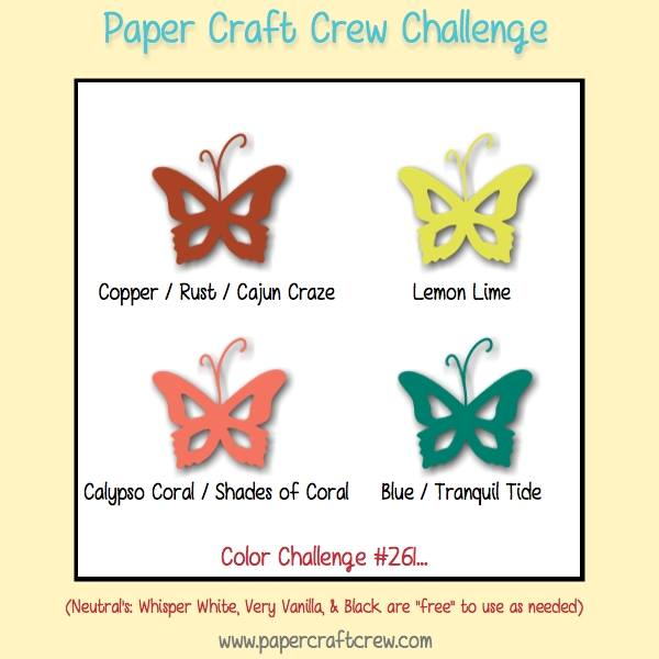 Paper craft crew colour challenge for Colour paper craft
