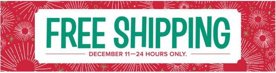 Coming tomorrow - free shipping