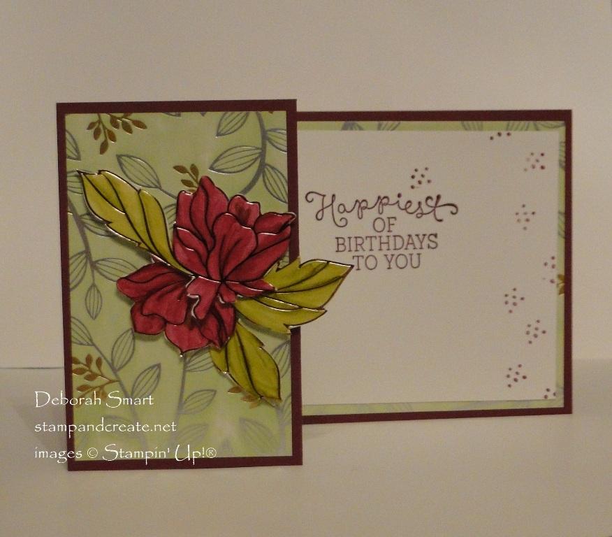 Z Fold Card with Springtime Foils