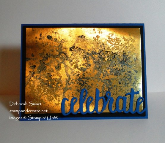 Brusho on Gold Foil