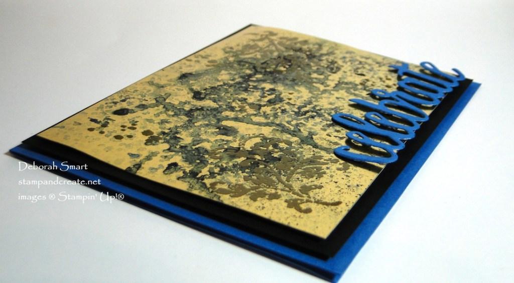 Brusho on Gold Foil