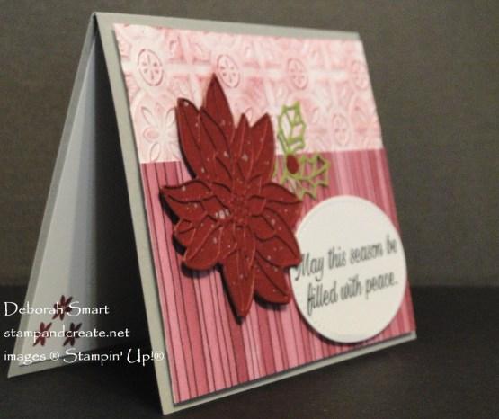Peaceful Poinsettia Holiday Card
