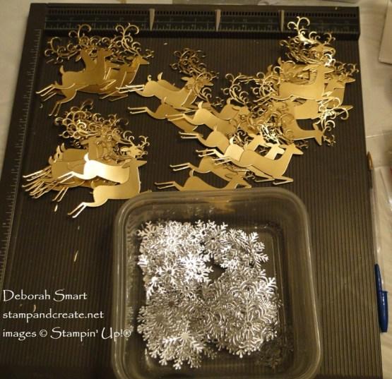 Snowflake Blizzard and Herd of Reindeer