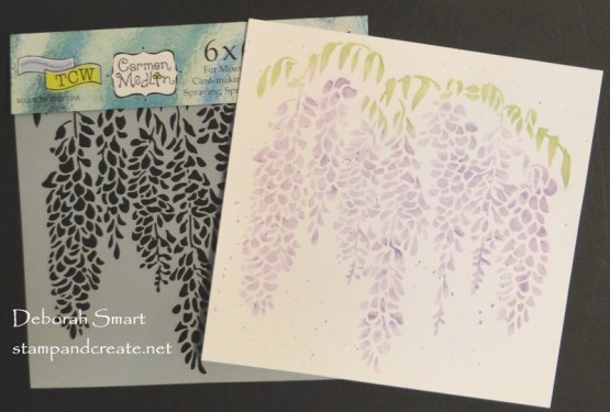 Crafters Workshop Wisteria Stencil