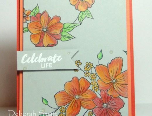 Pencil Coloured Flowers