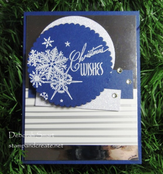 Holiday Greetings in Blue and White