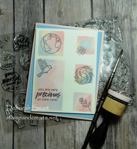 Watercolouring with Homemade Stencil