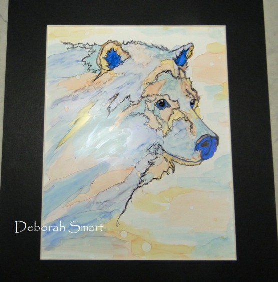 Spirit Bear in Alcohol Ink