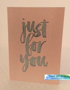 Stampin' Up! Botanicals for you - Just for You