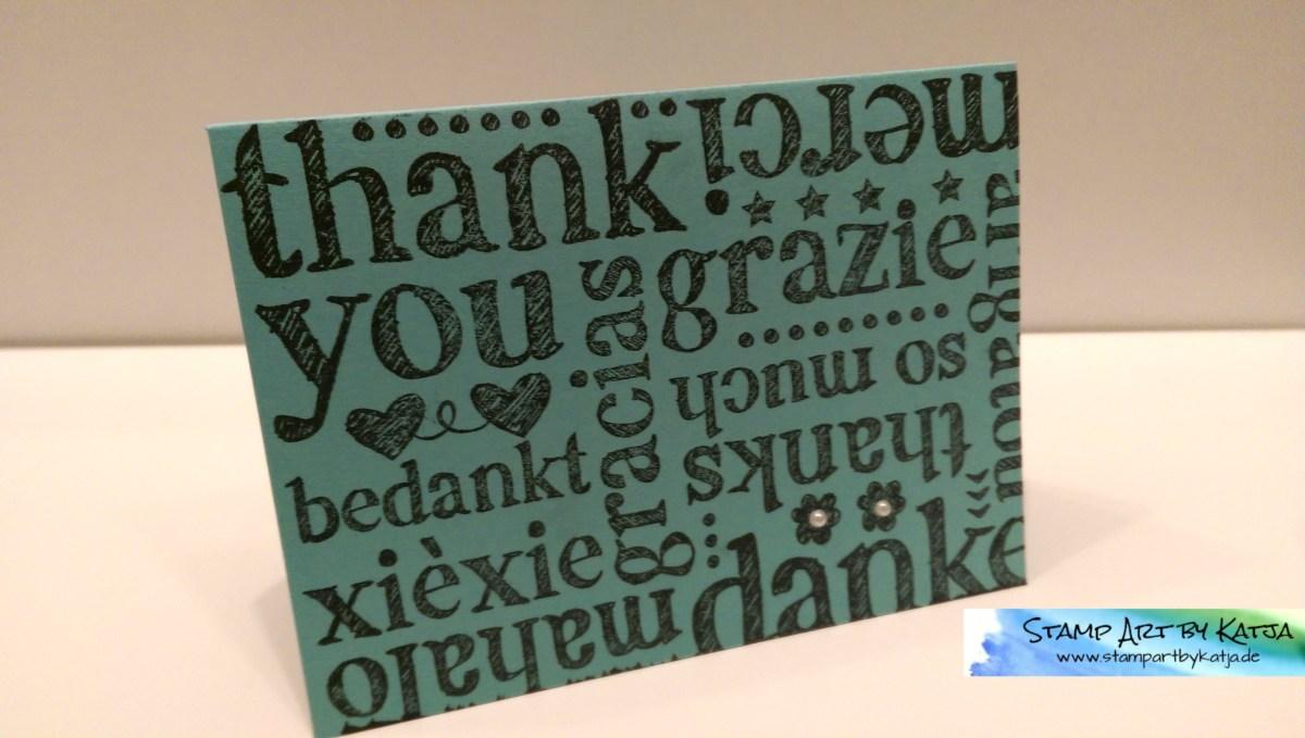 A World of Thanks – Dankeskarte