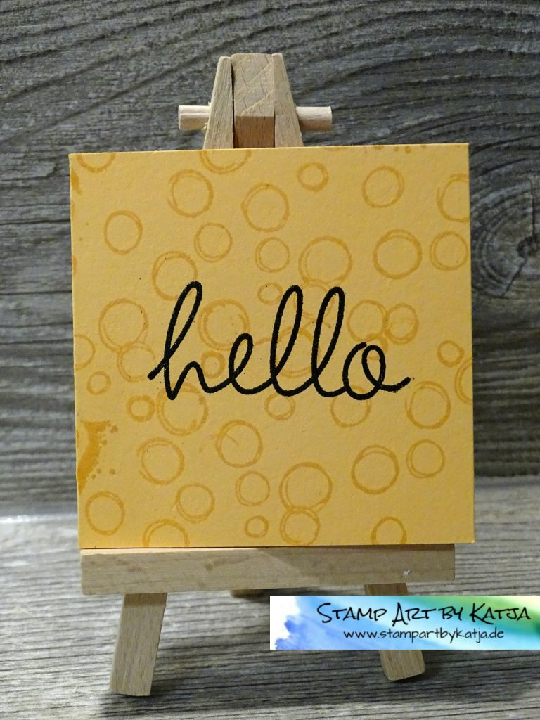 Stampin' Up! Playful Backgrounds & Hi There