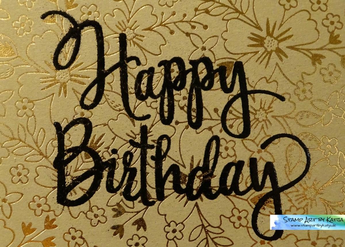 Geburtstagskarte – Stylized Birthday, DSP Muster für dich